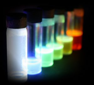 Fluorescence of some organic semiconductors.
