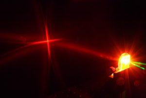 Conjugated polymer laser.
