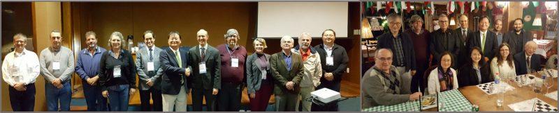 Apresentação do presidente da IUMRS para diretoria e conselho da SBPMat e jantar com representantes das sociedades/comunidades de pesquisa em Materiais internacional, argentina, brasileira, coreana, europeia, mexicana e peruana.