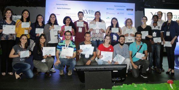 20 estudantes receberam prêmios da SBPMat, ACS Publications, E-MRS e IURMS por seus trabalhos apresentados no evento.