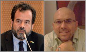 Prof. Graeff (esquerda) e Constantino, nomeados editores associados de revistas internacionais.
